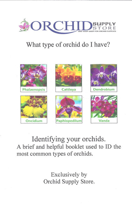 How to Identify Your Orchids Booklet