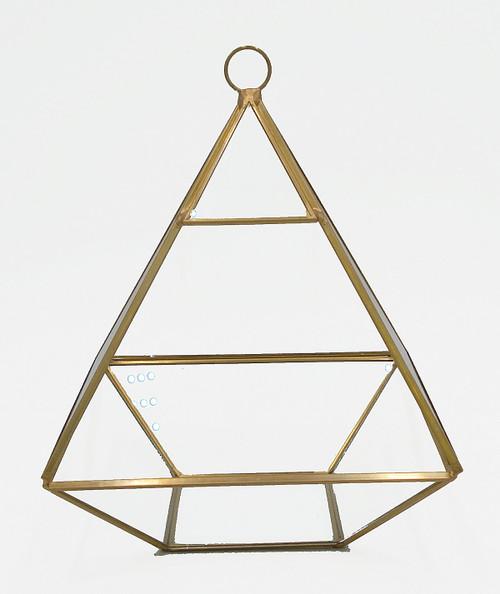 "Glass Geometric Terrarium Gold Frame - A12 (5.75""x7.75"")"