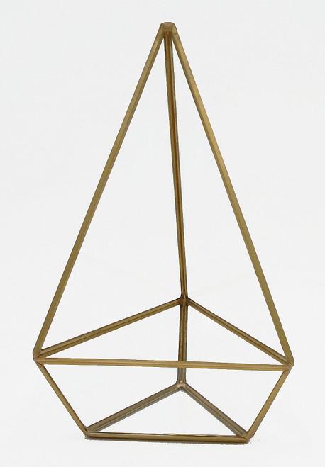 "Glass Geometric Terrarium Gold Frame - A9 (5.25""x7.75"")"