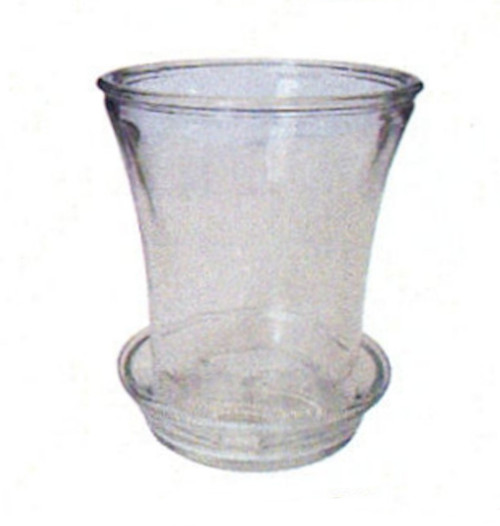 7 Inch Clear Glass Planter w Flared Top