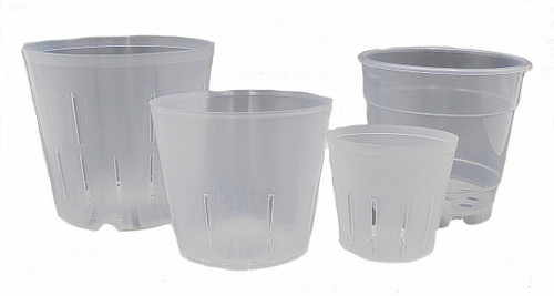 Hobby Sampler Clear Plastic Pots for Orchids 4 Sizes
