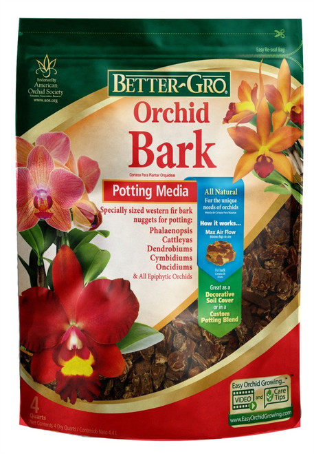 Better-Gro Orchid Bark Potting Media 4 Quarts
