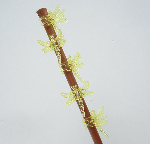 Dragonfly Clips for Orchids or plant spikes Pack of 5 Yellow