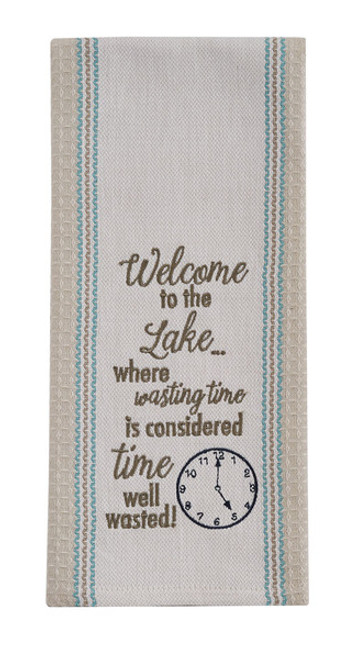 Dish Towel - Welcome to the Lake