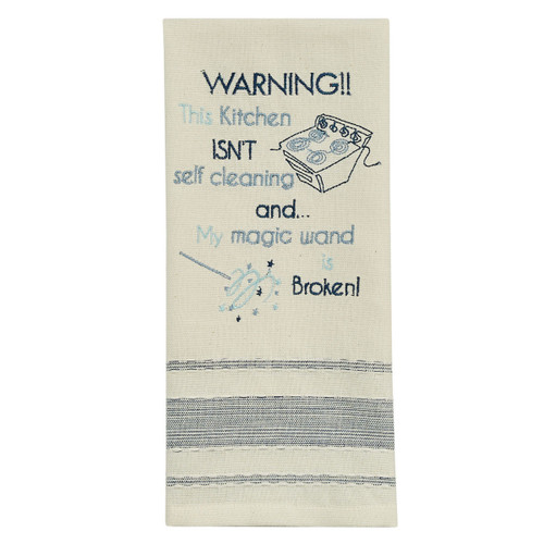 Dish Towel - Warning