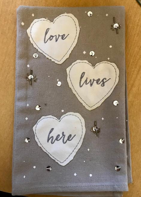 Love Lives Here Tea Towel Set