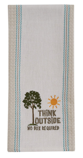 Think Outside Tea Towel