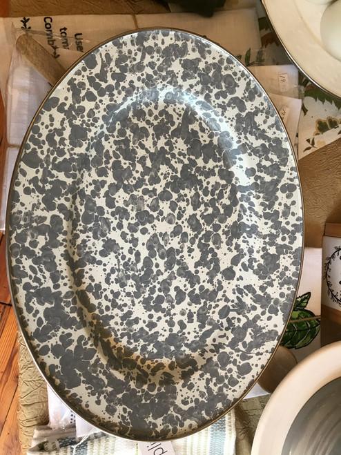 Grey/White Speckled Serving Platter
