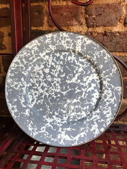 Grey/White Speckled Plate