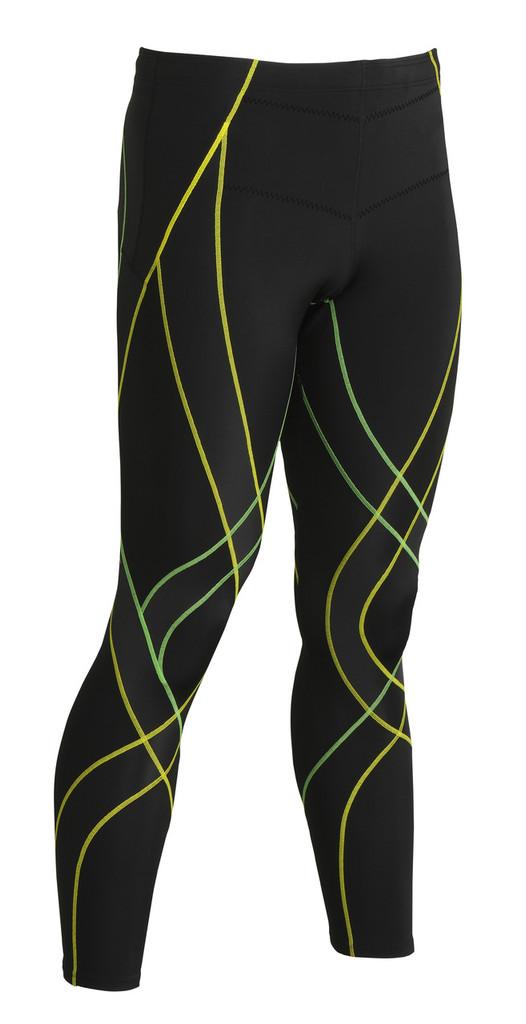 f049c03ad CW-X Mens Endurance Generator Tights | MyTriathlon | Black - Green - Yellow