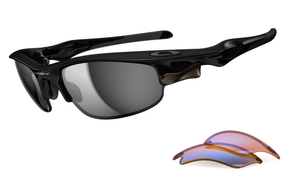 ad8ab2f93b93b Oakley Sports Performance Fast Jacket Sunglasses with a Polished Black  Frame and Black Iridium and P42