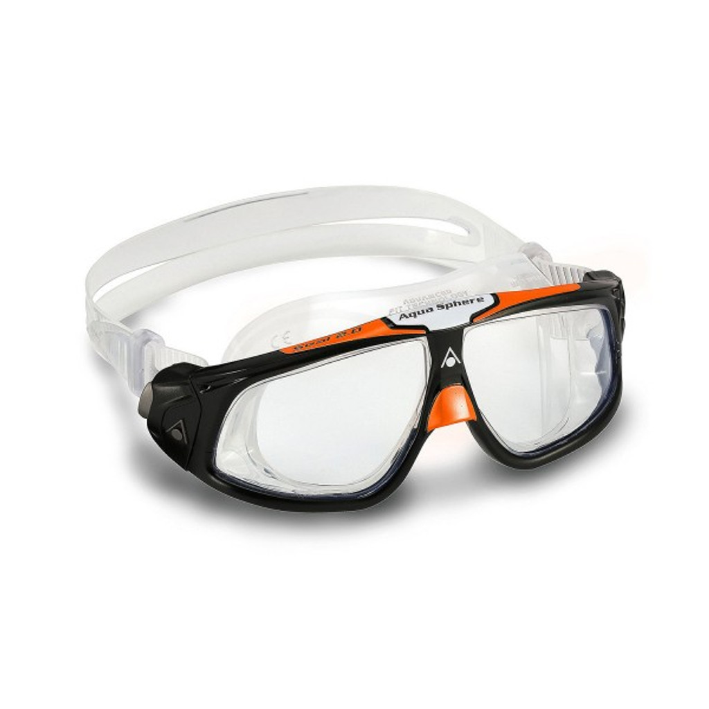 Aqua Sphere - Seal 2.0 Goggles - Black/ Orange Clear Lens