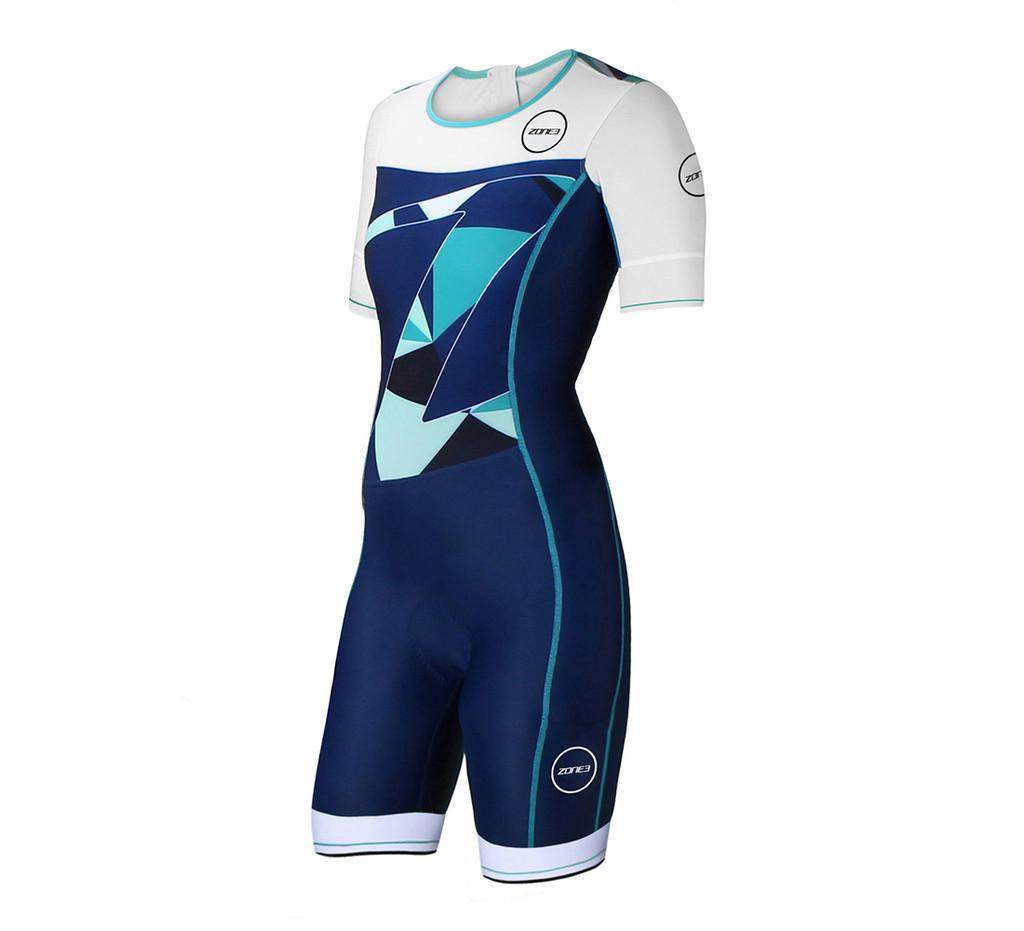 Zone3 - Women's Lava Long Distance Aero Short Sleeve Trisuit - *