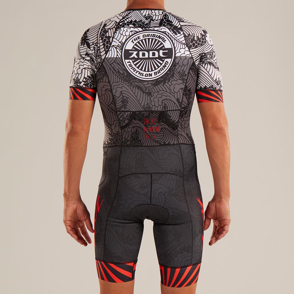 Zoot - LTD Tri Aero Short Sleeve Race Suit - Tokyo Red Rays - 2019 - Men's