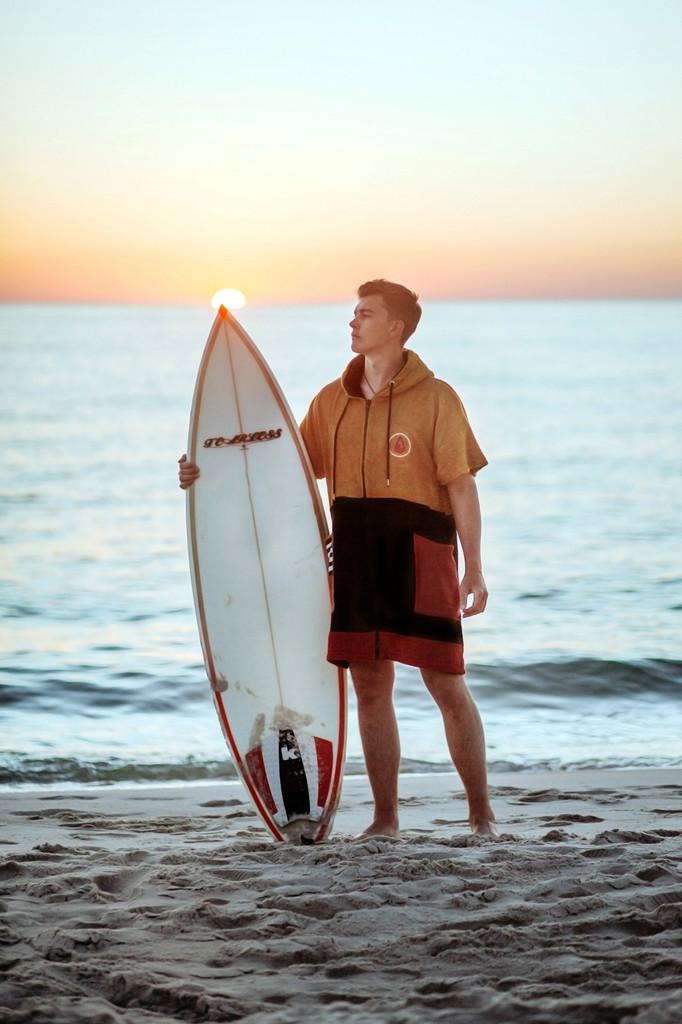 Wave Hawaii - Zip Poncho - Unisex - Dusty - Height 160-195cm