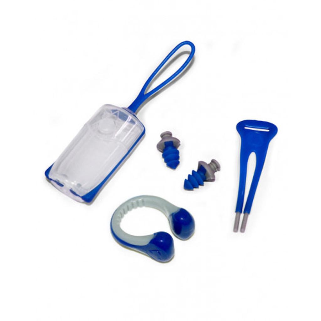 Aqua Sphere - EAR PLUGS NOSE CLIP - Blue/Grey