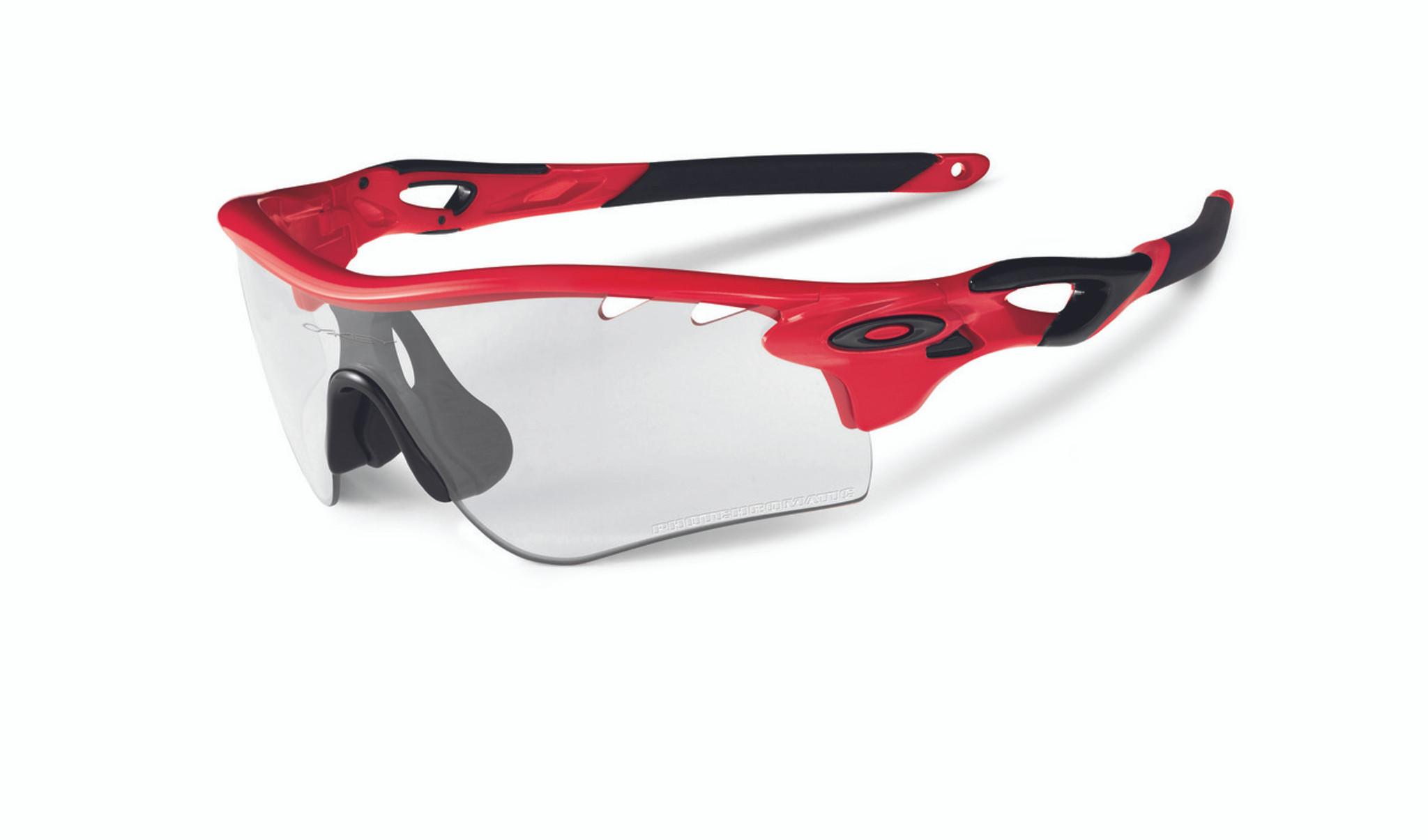 f894f8353d MyTriathlon - Oakley Sports Performance Sunglasses - Radarlock Path -  Infrared Frame - Clear Black Iridium Photochromic Vented Lens - OO9181-04