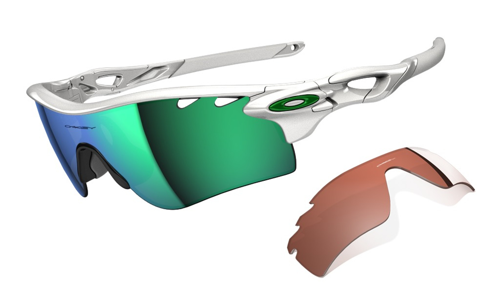 3feba1fd3 Oakley Sports Performance Sunglasses - Radarlock - Polished White Frame -  Jade Iridium Vented & VR28 Vented Lens - OO9181-22
