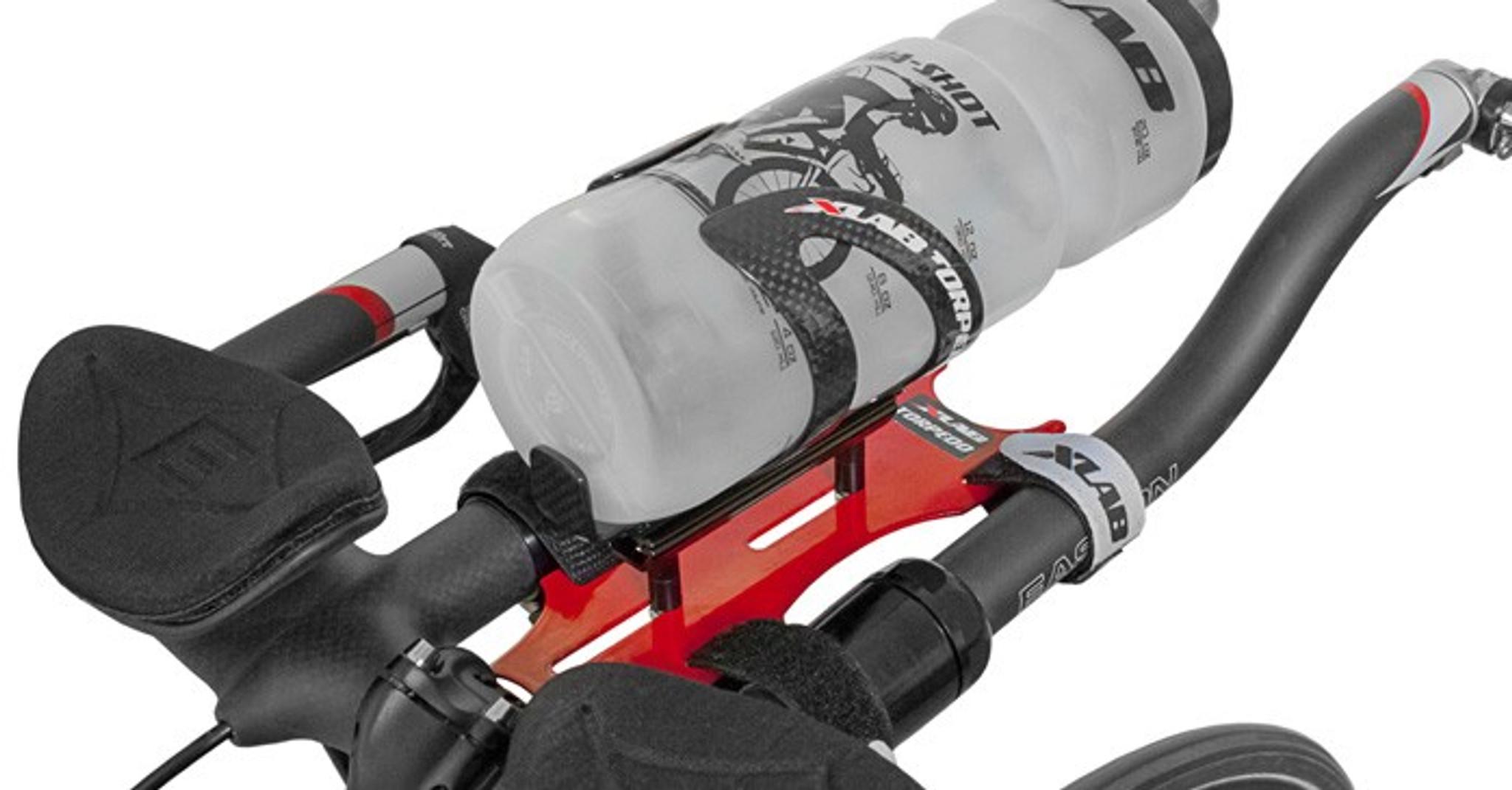 XLab Bottle Cage Torpedo Carbon Aerodynamic Front Red//Black