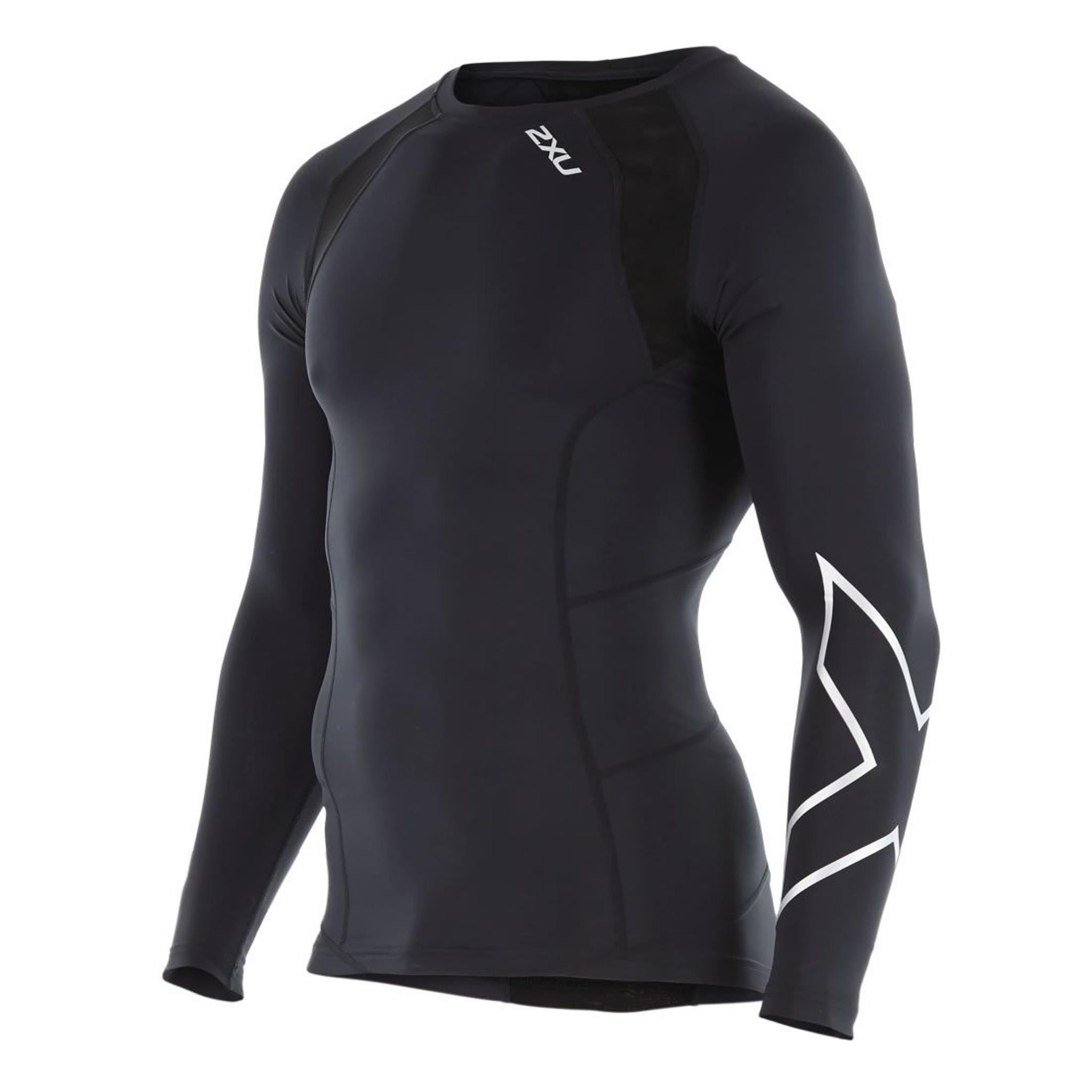 2XU Elite Long Sleeve Mens Compression Top Black
