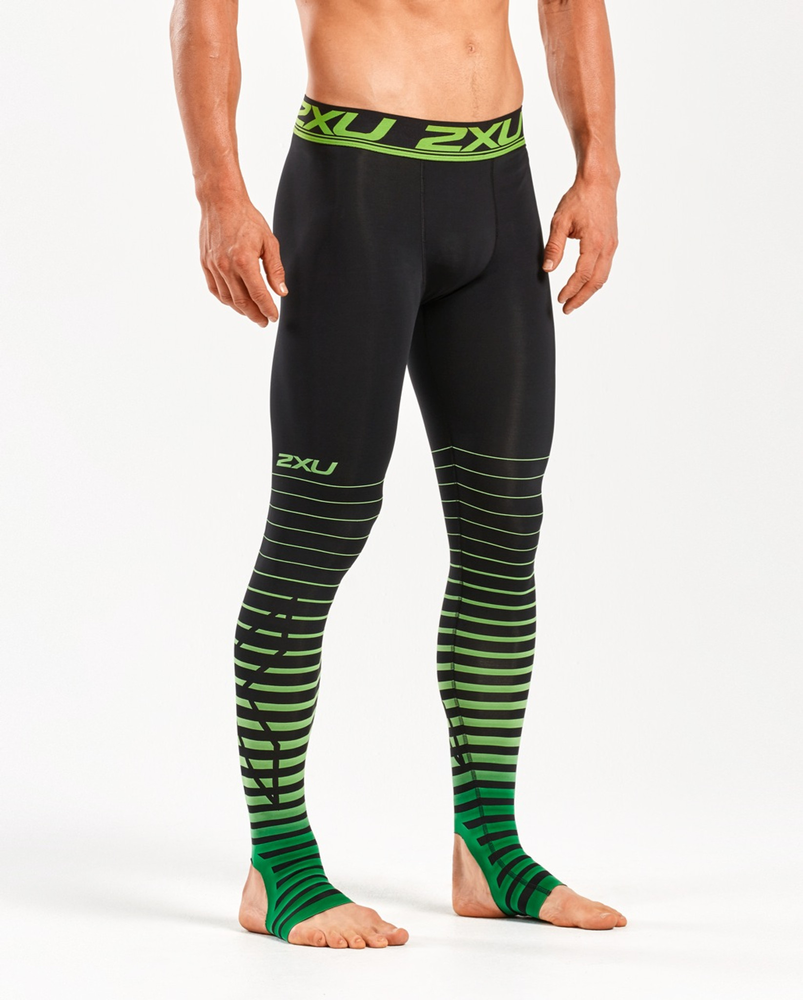 Black//Black 2XU Mens Power Recovery Compression Tights