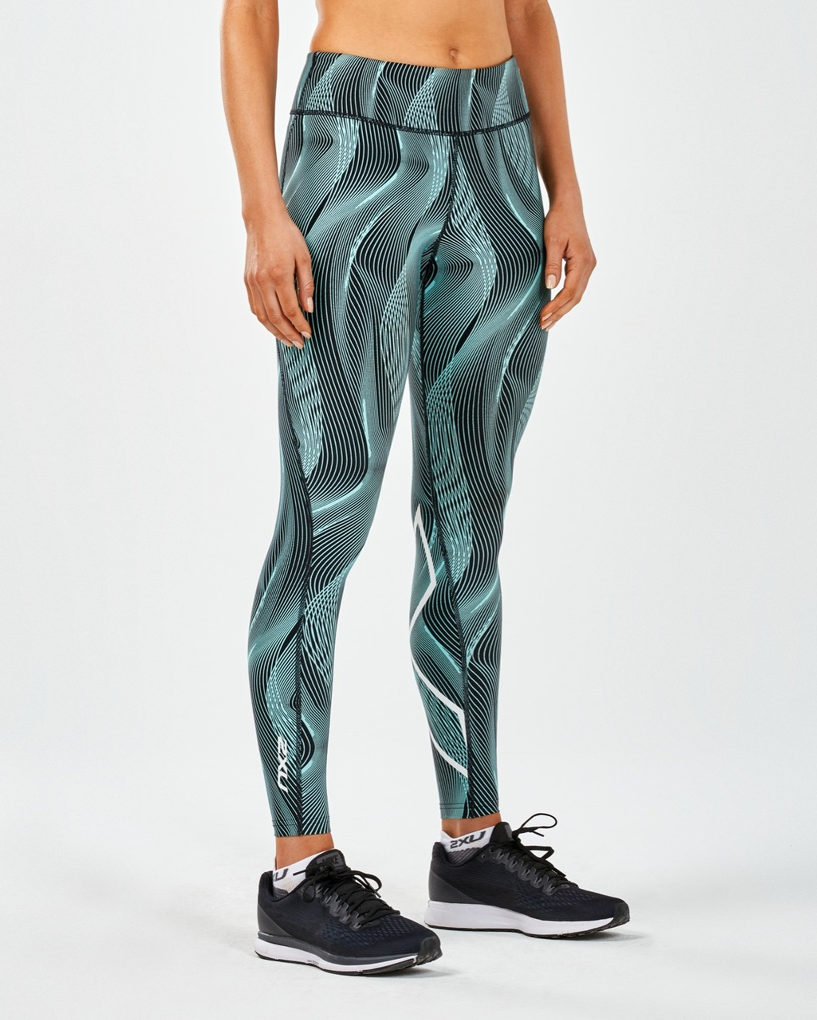 a3d592b9dc 2XU Mid-Rise Print Tight with Storage - MyTriathlon