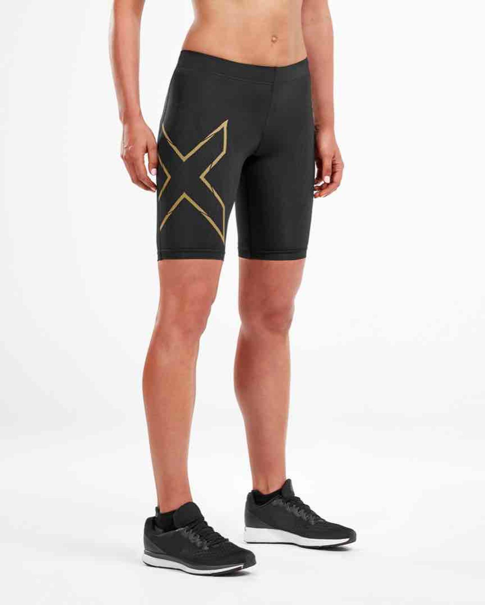 2XU MCS Run Womens Compression Shorts Blk//Grf