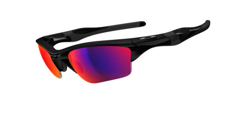 5021063719 Oakley Sports Performance Half Jacket 2.0 XL Sunglasses - Polished Black  Frame - OO Red Iridium Polarised Lens OO9154-27