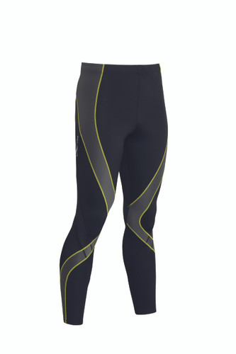 CW-X Mens Pro Tights  Black Grey Yellow