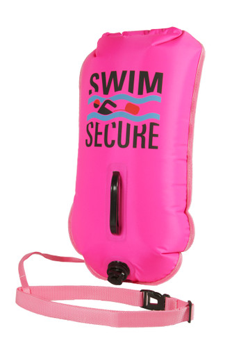 Swim Secure - ChillSwim Safety Buoy - Pink Inflatable Dry Bag