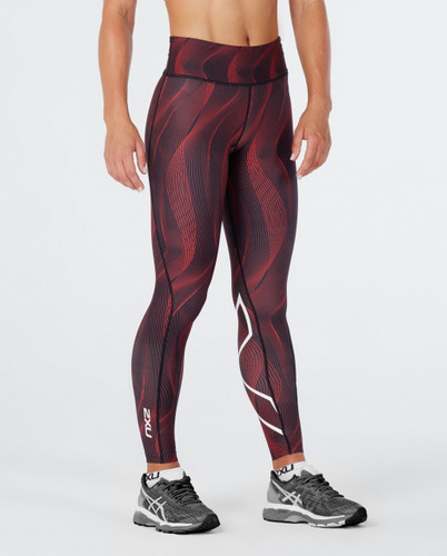2XU - Women's Mid-Rise Print Tights with Storage