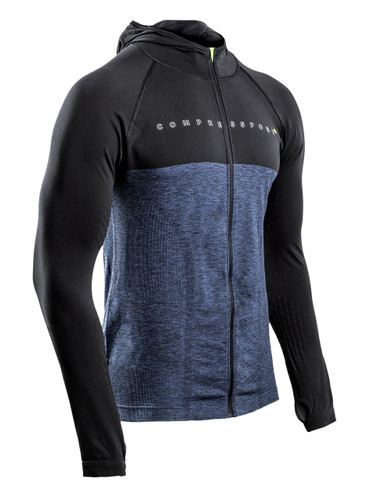 Compressport - 3D THERMO SEAMLESS ZIP HOODIE - BLACK EDITION 10