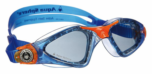 Aqua Sphere - Kayenne Junior Goggle - Dark Lens - Blue/Orange