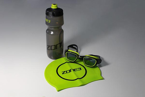 Zone3 - Stealth Bundle - Goggles, Swim Cap, Drinks Bottle