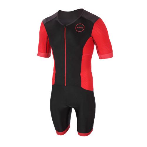 Zone3 - 2021 - Aquaflo+ Short Sleeve Full Zip Trisuit - Men's