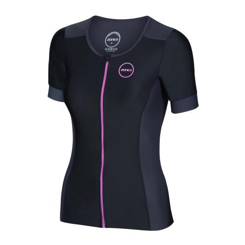 Zone3 - 2021 - Aquaflo+ Short Sleeve Tri Top - Women's