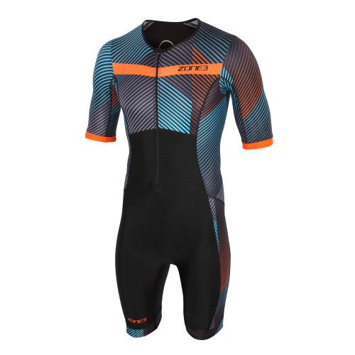 Zone3 - 2021 - Activate+ Momentum (Stripes) Short Sleeve Trisuit  - Men's