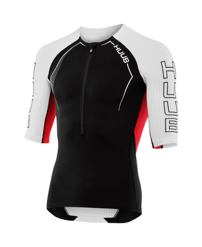 HUUB - Anemoi Men's Aero Tri Top - Black/White - 2020