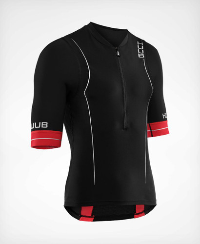 HUUB - Men's RaceLine Long-Course Tri Top 2020 - Black/Red