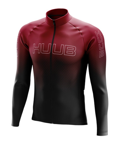 HUUB - Men's Core2 Long-Sleeve Thermal Cycle Jersey - 2020 - Black/Silver/Red