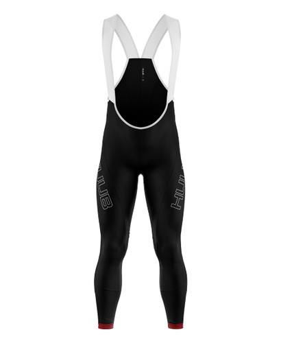 HUUB - Men's Core 2 Thermal Bib Tights - 2020 - Black/Silver/Red