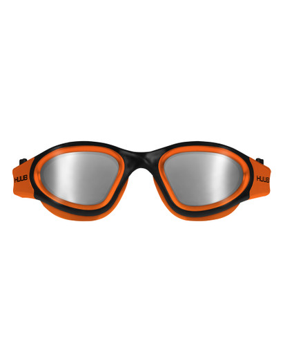 HUUB - Aphotic Polarised & Mirror Lens Swim Goggles - Unisex - Orange