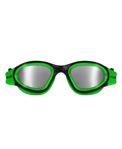 HUUB - Aphotic Unisex Swim Goggles - Green - Polarised & Mirror Finish