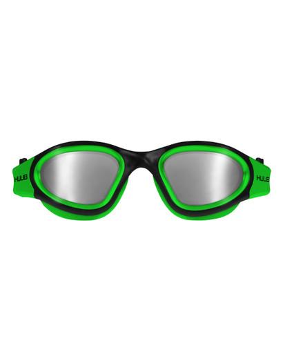 HUUB - Aphotic Unisex Swim Goggles - Green - Polarised & Mirror Finish