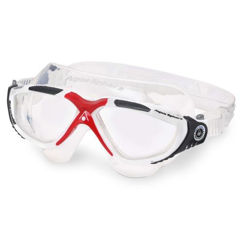 Aqua Sphere - Vista Goggles - White/Dark Grey/Red/Clear