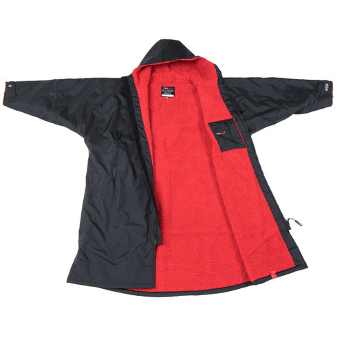 Dryrobe - Advance Long Sleeve - Black/Red