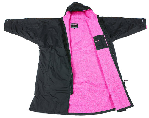 Dryrobe - Advance Long Sleeve - Black/Pink