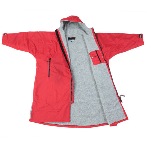 Dryrobe - Advance Long Sleeve - Red/Grey