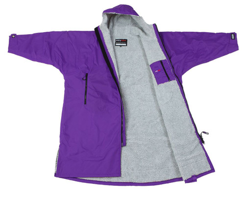Dryrobe - Advance Long Sleeve - Purple/Grey