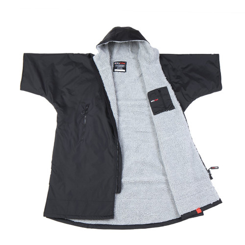 Dryrobe - Advance Short Sleeve - Black/Grey